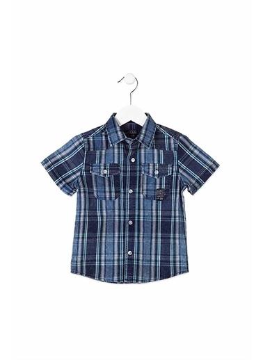 Losan Losan Kids Gömlek Mavi Çizgili Lacivert